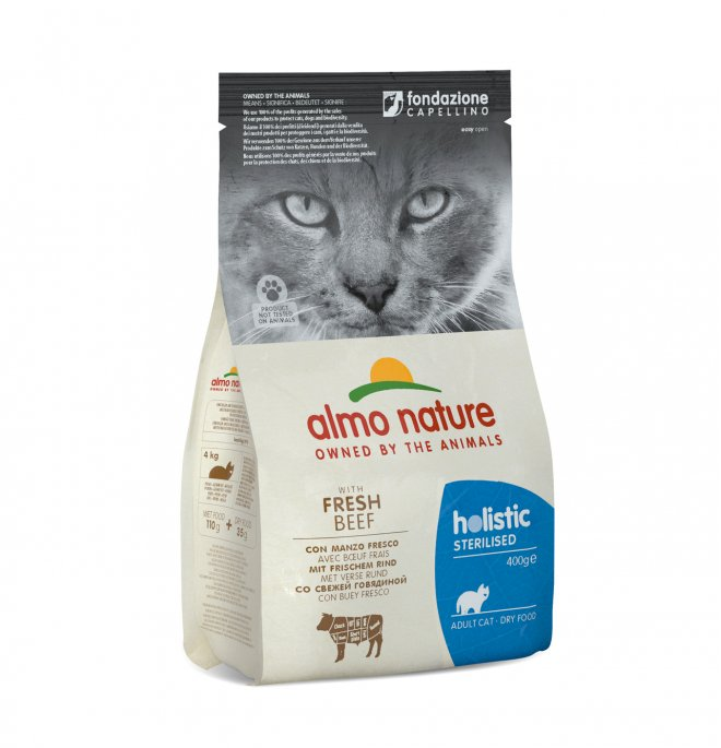 Almo nature gatto functional adult sterilized con manzo da 400 gr