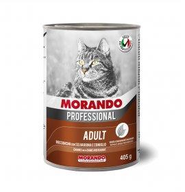 Morando miglior gatto professional bocconcini con selvaggina e coniglio da 405 gr in lattina