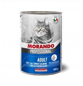 Morando miglior gatto professional pate' tonno e salmone da 400 gr in lattina