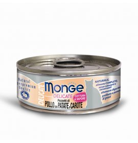 Monge gatto delicate al pollo patate e carote da 80 gr in lattina