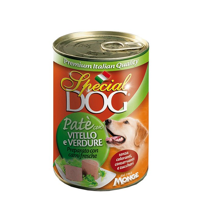 Monge cane special dog pate' al vitello e verdure da 400 gr in lattina