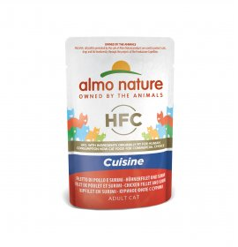Almo nature gatto classic cuisine con filetto di pollo e surimi da 55 gr in busta