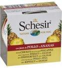 Agras schesir cane fruit al pollo con ananas in gelatina da 150 gr in lattina