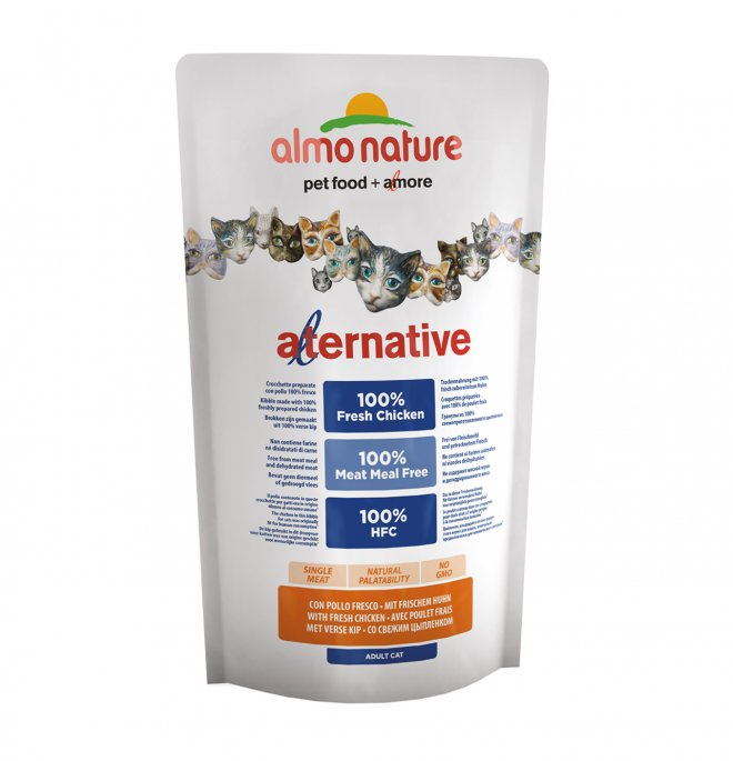 Almo nature gatto alternative hfc con pollo e riso da 750 gr