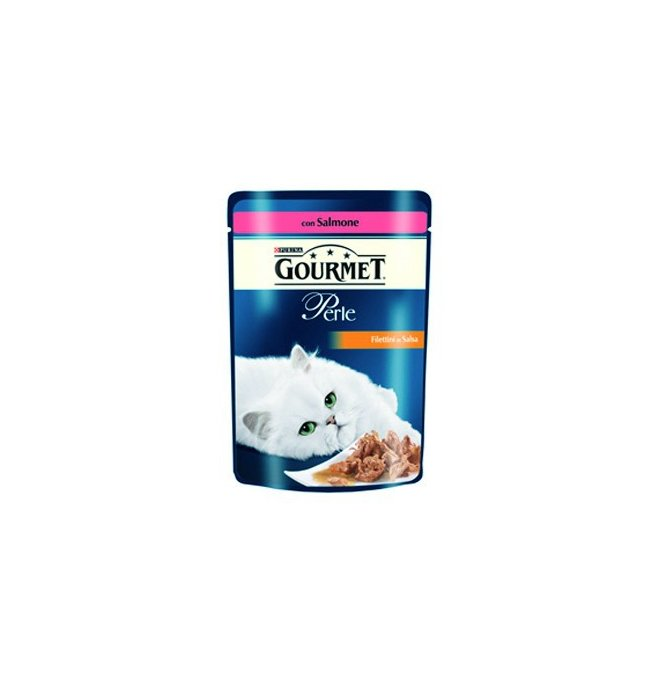 Purina gourmet perle gatto al salmone da 85 gr in busta