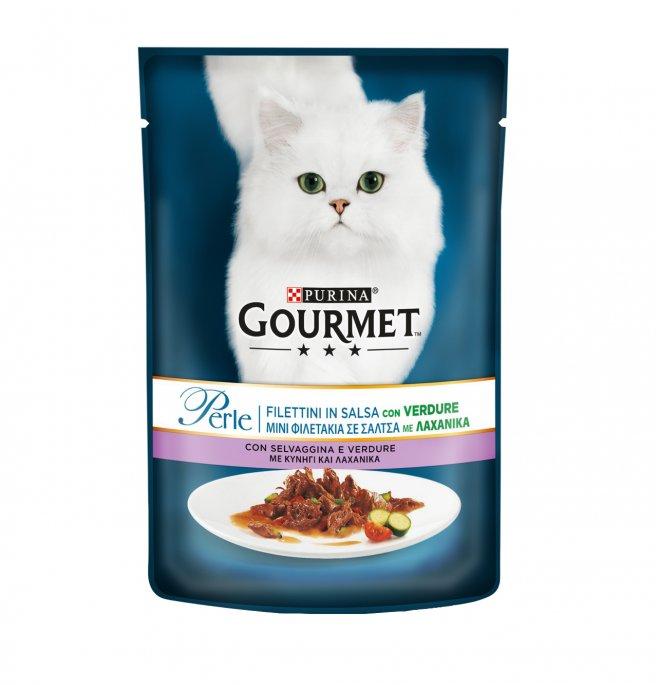 Purina gourmet perle gatto alla selvaggina e verdure da 85 gr in busta
