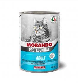 Morando miglior gatto professional pate' pesce e gamberetti da 400 gr in lattina