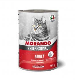 Morando miglior gatto professional bocconcini con manzo da 405 gr in lattina