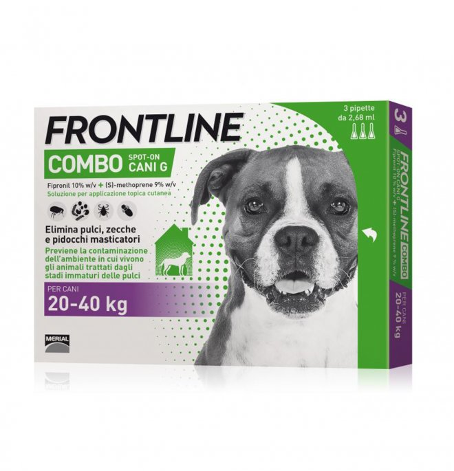 Merial cane frontline combo 20 - 40 kg 3 pipette