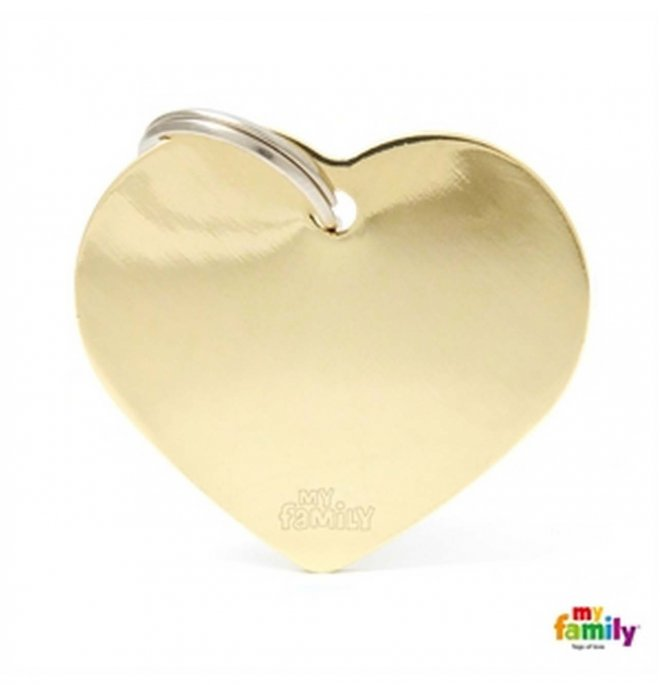 Medaglietta cuore grande dorato