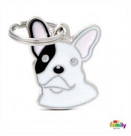 Medaglietta bulldog francese bianco