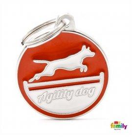 Medaglietta agility dog rosso