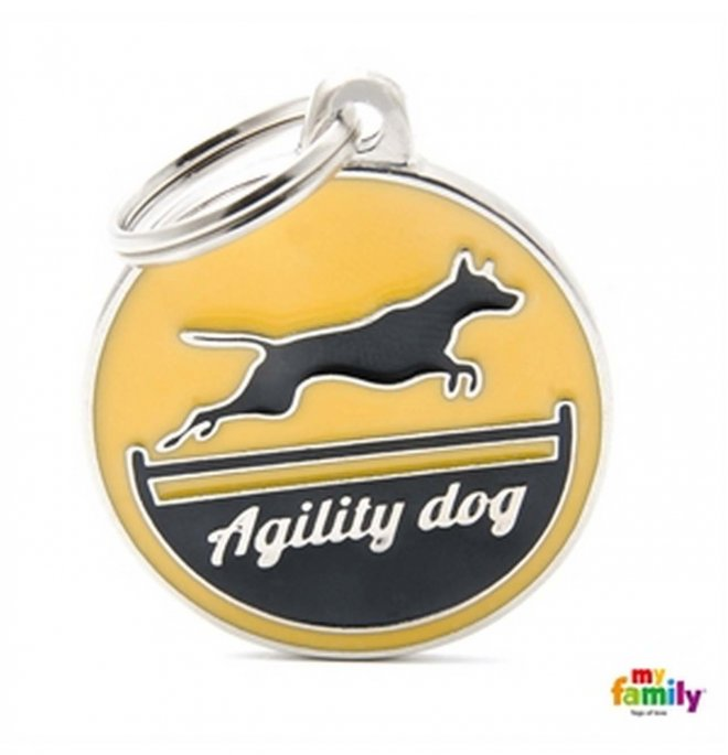 Medaglietta agility dog giallo