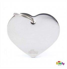 Medaglietta cuore grande cromato