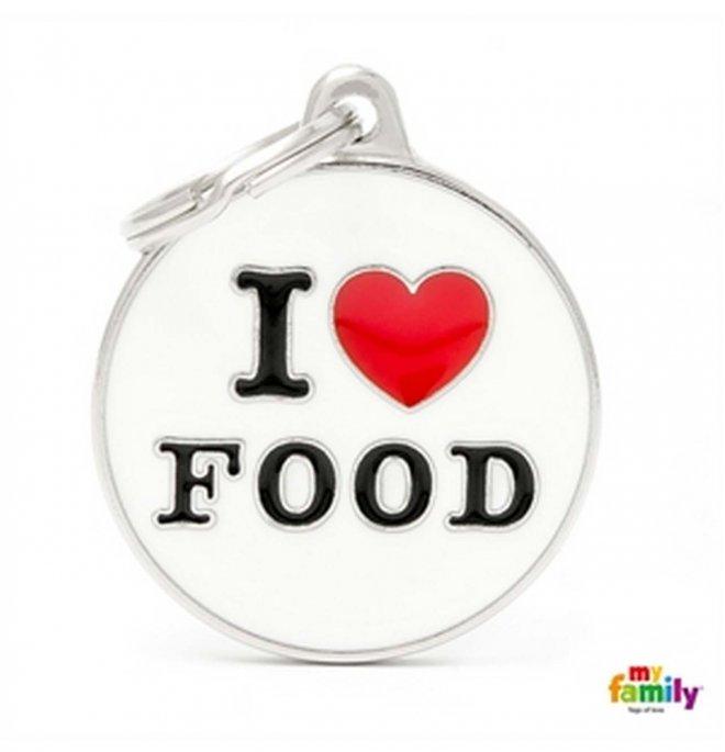 Medaglietta cerchio big i love food