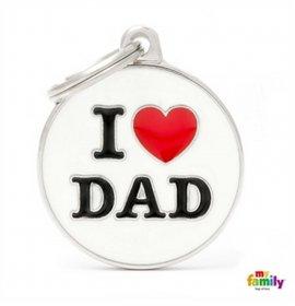 Medaglietta cerchio big i love dad