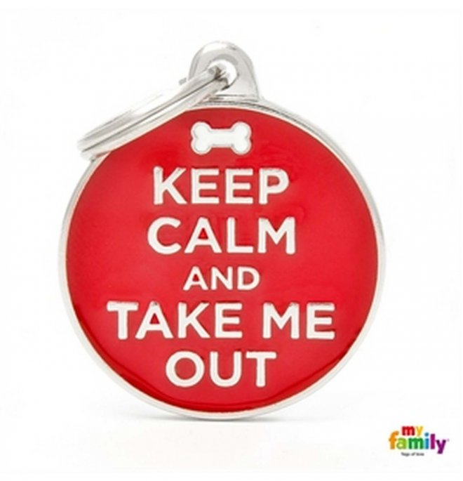 Medaglietta cerchio big keep calm and take me out