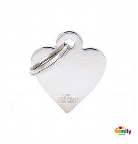 Medaglietta cuore piccolo cromato