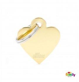 Medaglietta cuore piccolo dorato