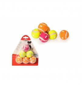 Gioco cane palla tennis...