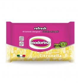 Inodorina salviette citronella 40pz