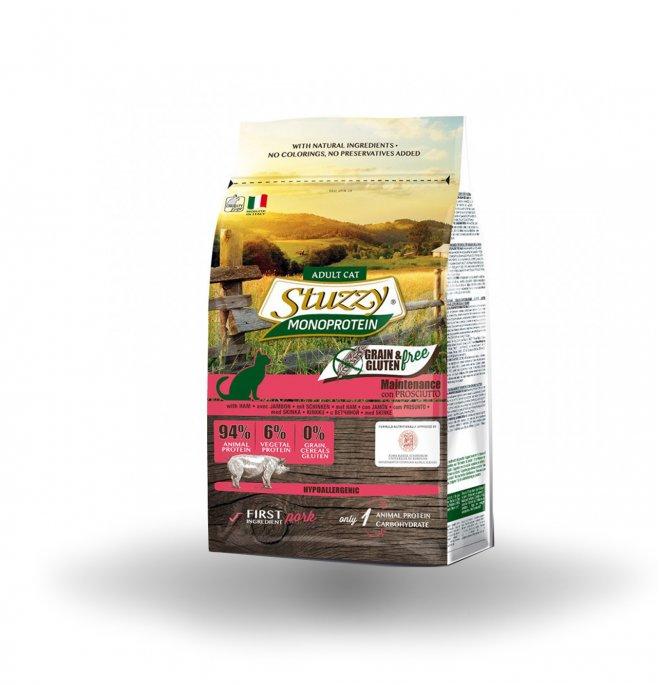 Agras stuzzy gatto adult monoprotein grain & gluten free al prosciutto da 1,5 kg