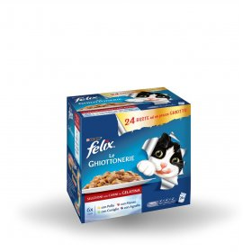 Purina felix sensations gatto misto carni pollo manzo coniglio agnello 24 buste da 100 gr