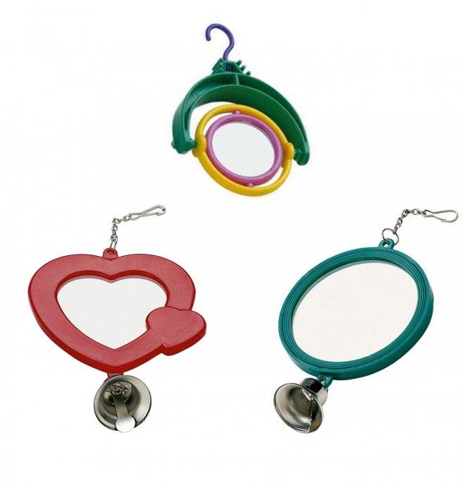 Ferplast volatili gioco specchio per gabbie forme e colori misti