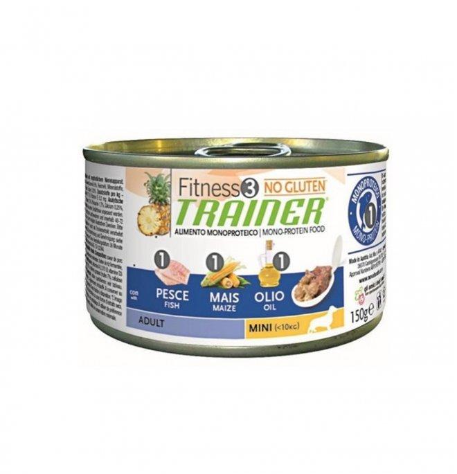 Trainer cane fitness 3 adult mini pesce mais olio no gluten da 150 gr in lattina
