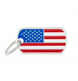 Medaglietta bandiera americana