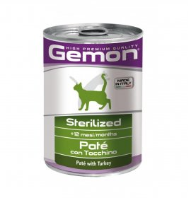 Monge gatto gemon adult pate' al tacchino sterilizzato da 400 gr in lattina