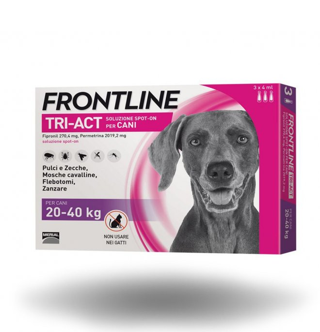 Merial cane frontline tri - act spot - on 20 - 40 kg 3 pipette