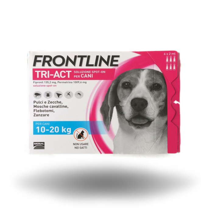 Merial cane frontline tri - act spot - on 10 - 20 kg 6 pipette