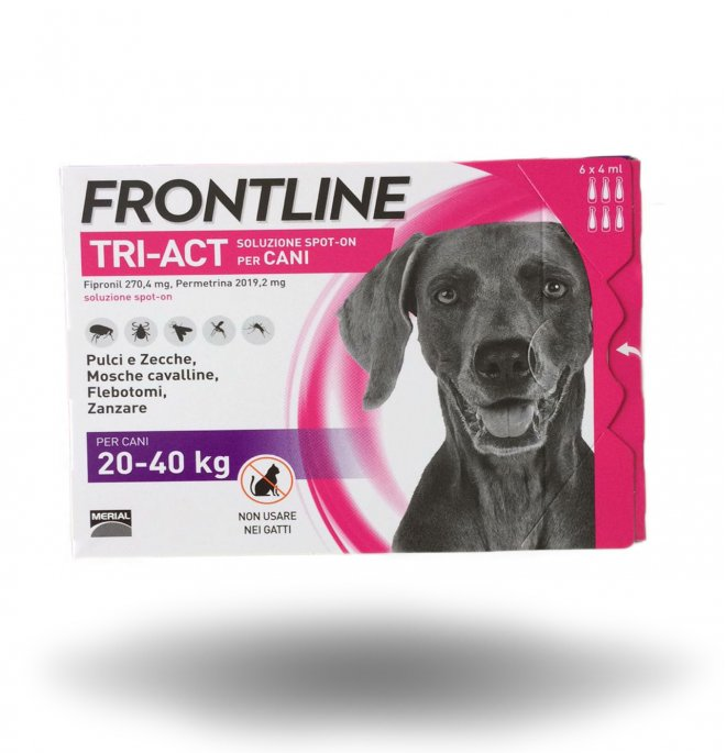 Merial cane frontline tri - act spot - on 20 - 40 kg 6 pipette