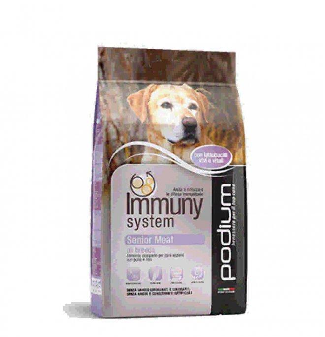 Podium immuny system cane senior meat da 4 kg