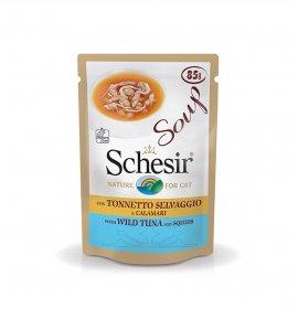 Agras gatto schesir soup con tonnetto selvaggio e calamari da 85 gr in busta