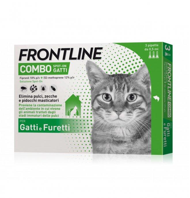 Merial gatto e furetti frontline combo 3 pipette