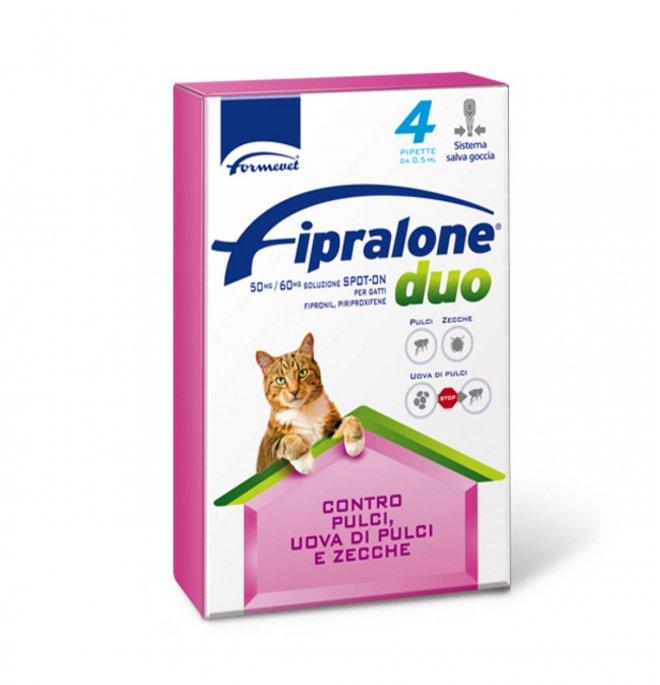 Formevet antiparassitario fipralone duo spot on per gatti 4 pipette da 0,5 ml