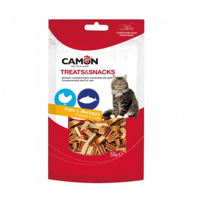 Camon snack gatto sandwich pollo e merluzzo 50 gr