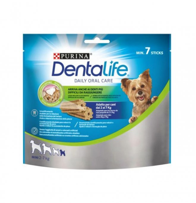 Purina dentalife snack cane daily oralcare extra small 7 pezzi 69 gr