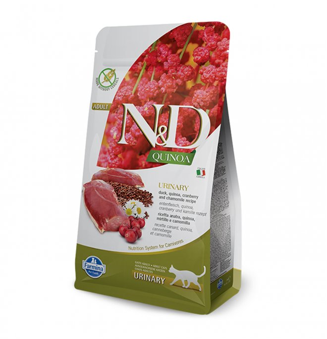 Farmina n&d delicious grain free gatto adult urinary alla quinoa e anatra da 300 gr