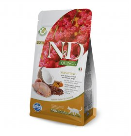 Farmina n&d delicious grain free gatto adult skin e coat alla quinoa e quaglia da 300 gr