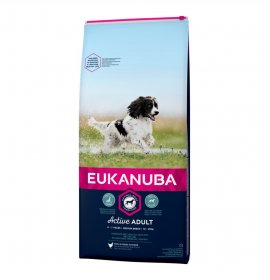 Eukanuba cane adult medium breed pollo da 12 kg