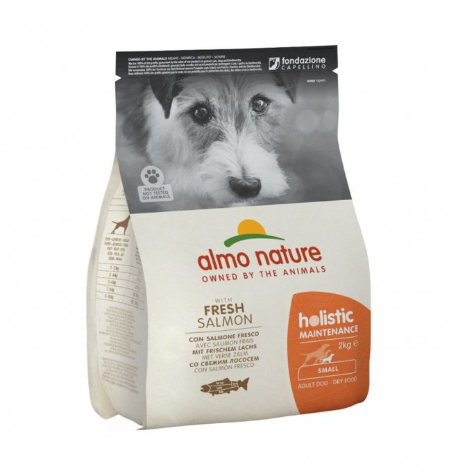 Almo nature cane holistic adult small con salmone da 2 kg