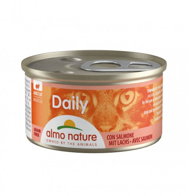 Almo nature gatto dailymenu mousse con salmone da 85 gr in lattina