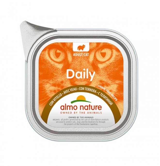 Almo nature gatto dailymenu con vitello da 100 gr in vaschetta