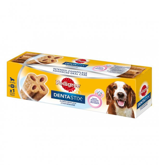 Pedigree cane snack dentastix 2 volte a settimana medium 1 pezzo da 80 gr